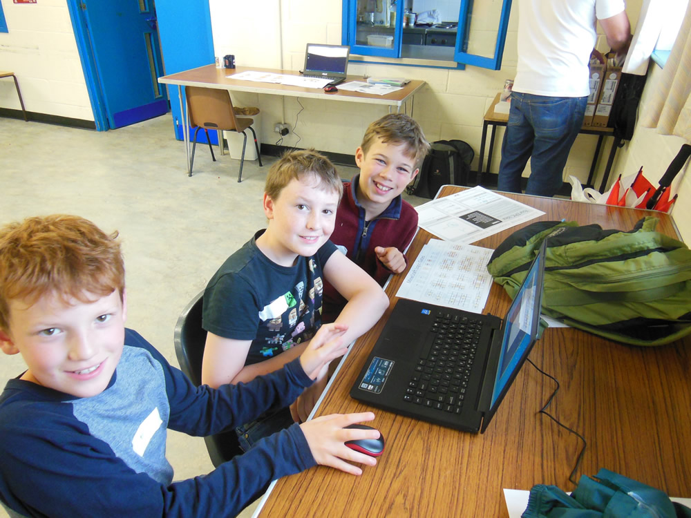 Team work in action with our Junior Game Creators
