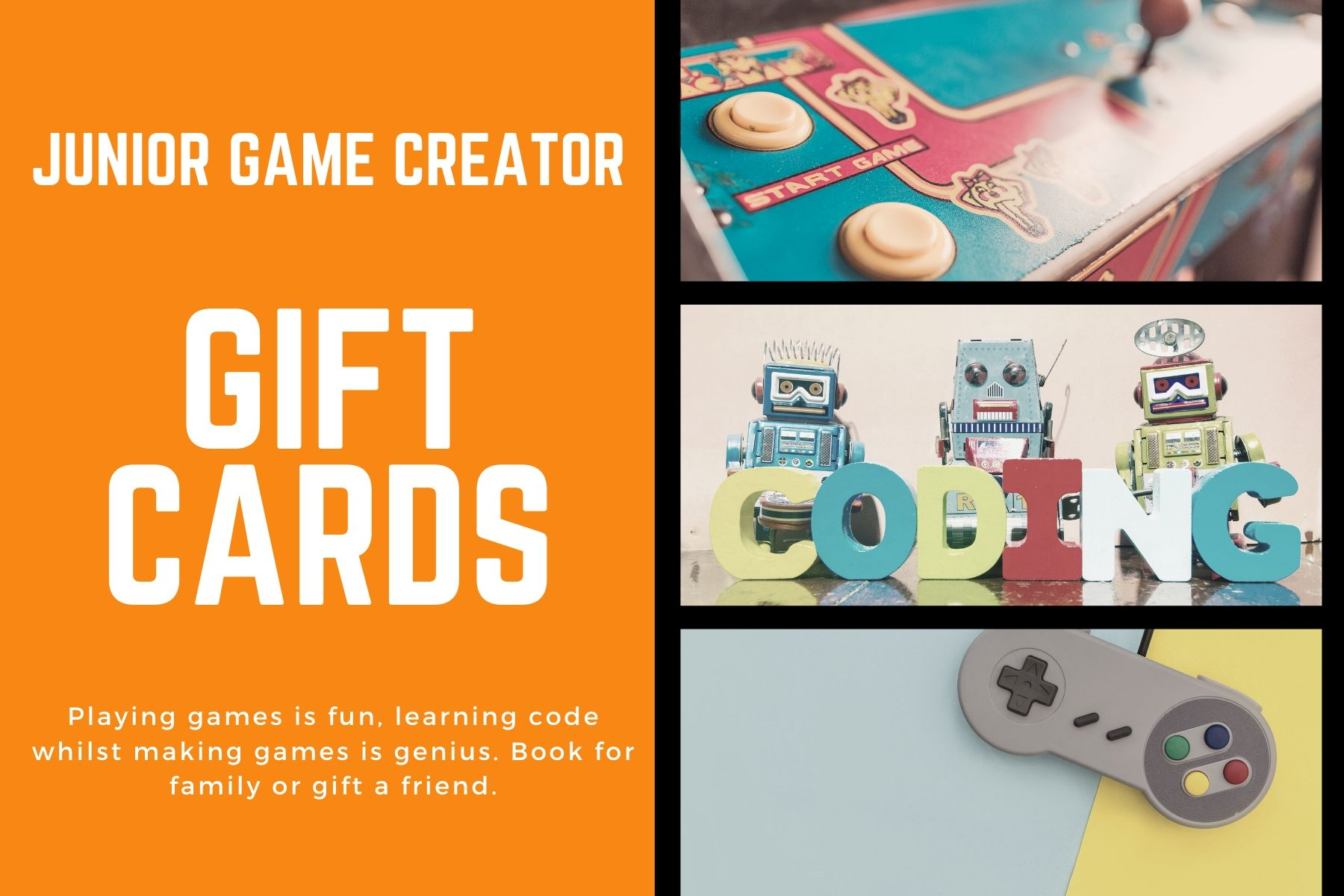 Junior Game Creator Gift Cards